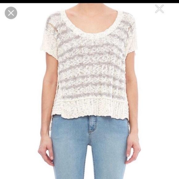 Free People short sleeve knit sweater